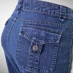 Gloria Vanderbilt Flap Pocket Mom Jeans Size 10